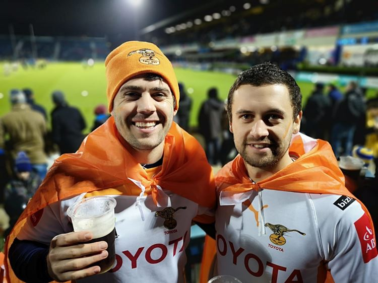 Toyota Cheetahs supporters in Ireland