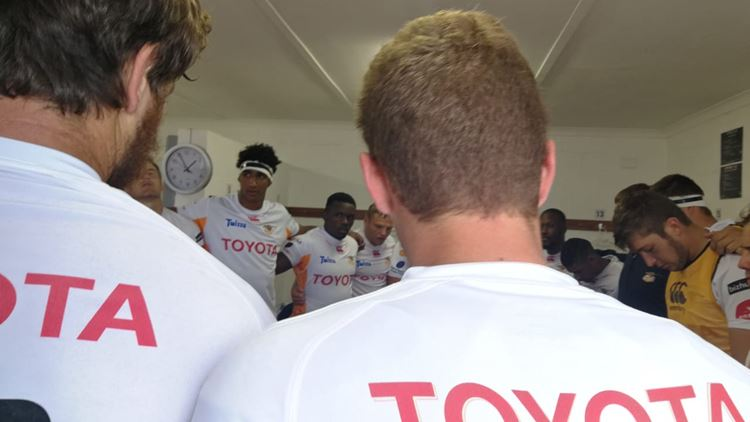 Toyota Free State XV and SWD Eagles in battle at Clive Solomon Stadium in Heidedal, Bloemfontein