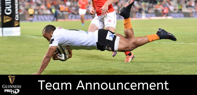 TEAM ANNOUNCEMENT:  Toyota Cheetahs team to take on Scarlets